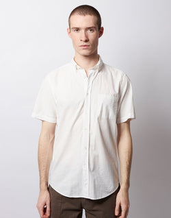 Portuguese Flannel - Atlantico Button Down Short Sleeve Shirt White