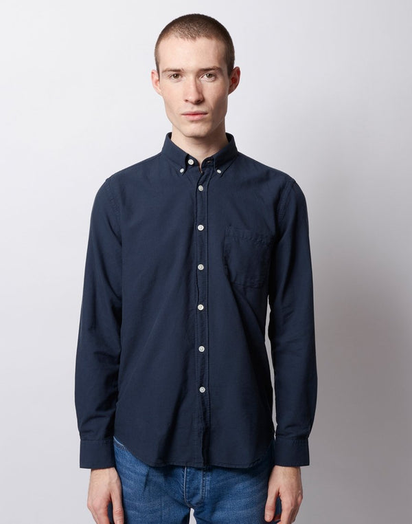 Portuguese Flannel - Belavista Button Down Long Sleeve Shirt Navy