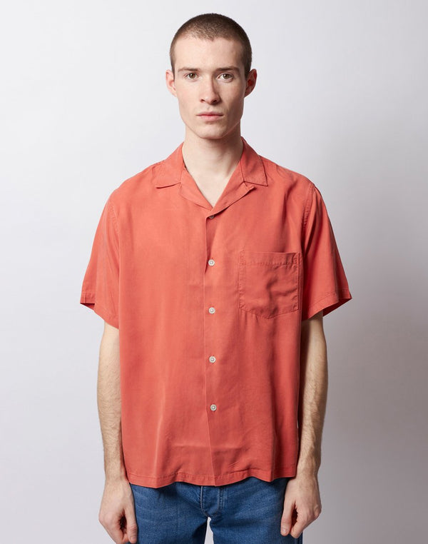 Portuguese Flannel - Dogtown Revere Short Sleeve Shirt Pastel Pink