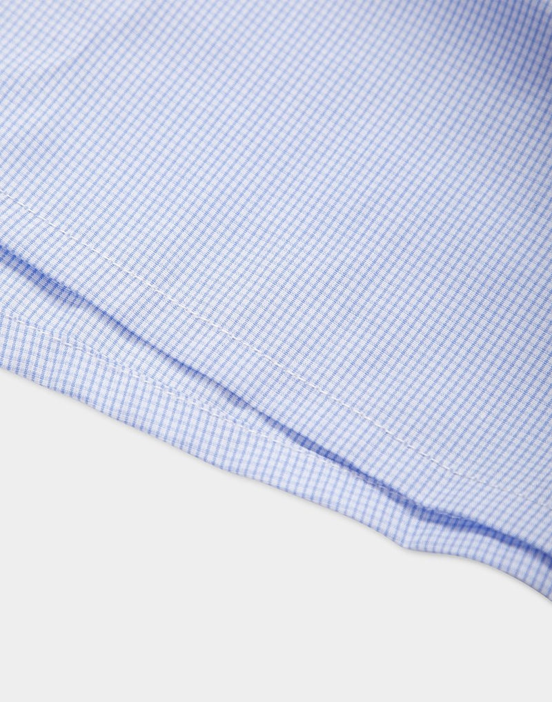 Sunspel - Classic Gingham Check Boxer Shorts Blue