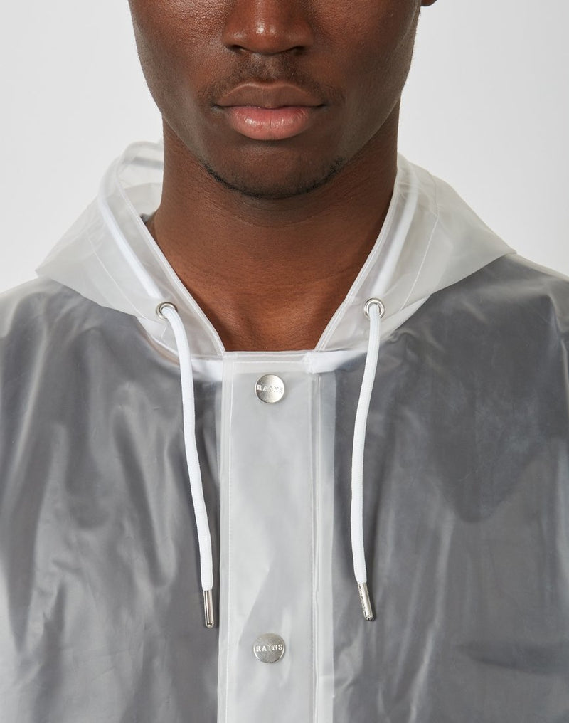 Rains - Hooded Coat Foggy White