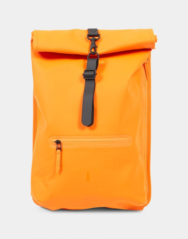 Rains - Roll Top Rucksack Fire Orange