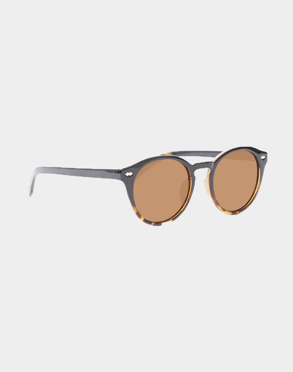 The Idle Man - Round Lens Tortoise Shell Keyhole Sunglasses