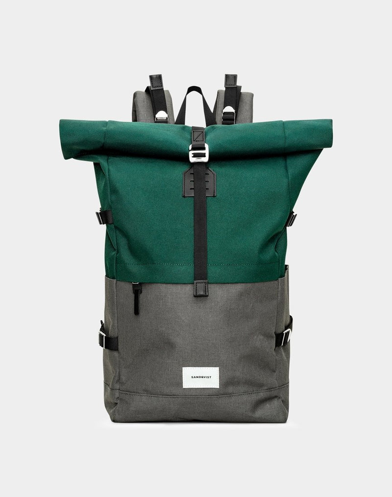 Sandqvist - Bernt Backpack Green & Grey