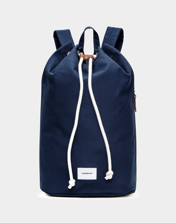 Sandqvist - Evert Drawstring Backpack Blue - Blue