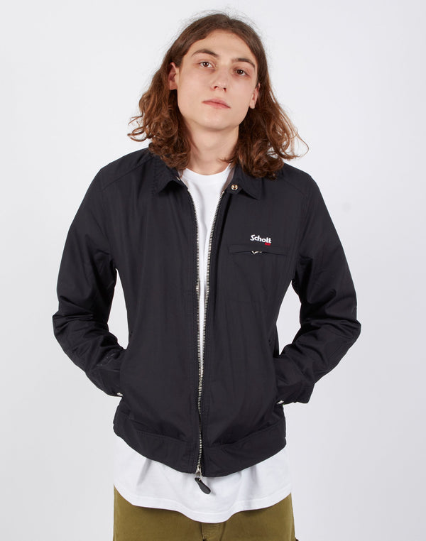 Schott NYC - Lenox Embroided Motor Jacket Navy