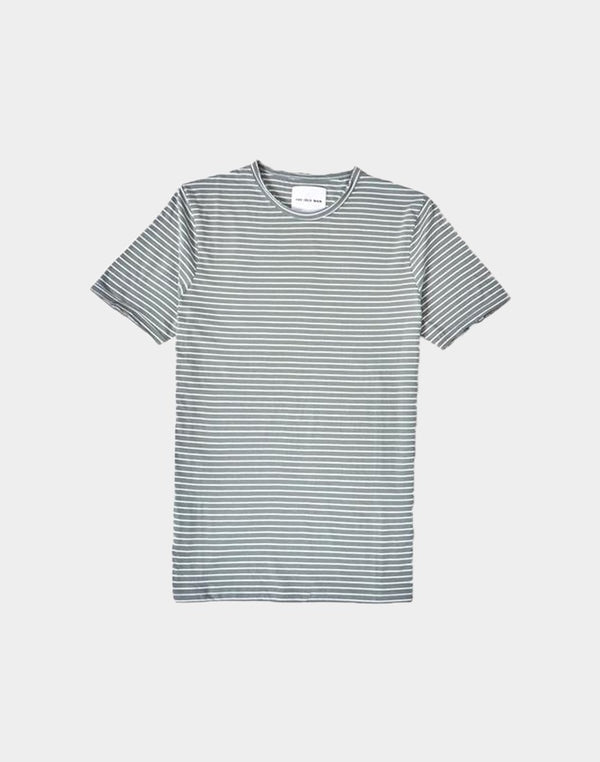 The Idle Man - Slim Fit Striped T-Shirt Green