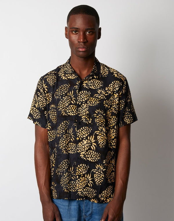 Stan Ray - Kelapa Batik Short Sleeve Shirt Black