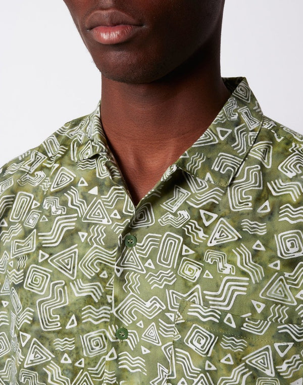 Stan Ray - Tom Tom Batik Short Sleeve Shirt Olive