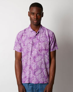 Stan Ray - Kelapa Batik Short Sleeve Shirt Purple