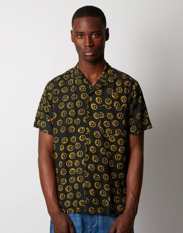 Stan Ray - Smiley Batik Short Sleeve Shirt Black