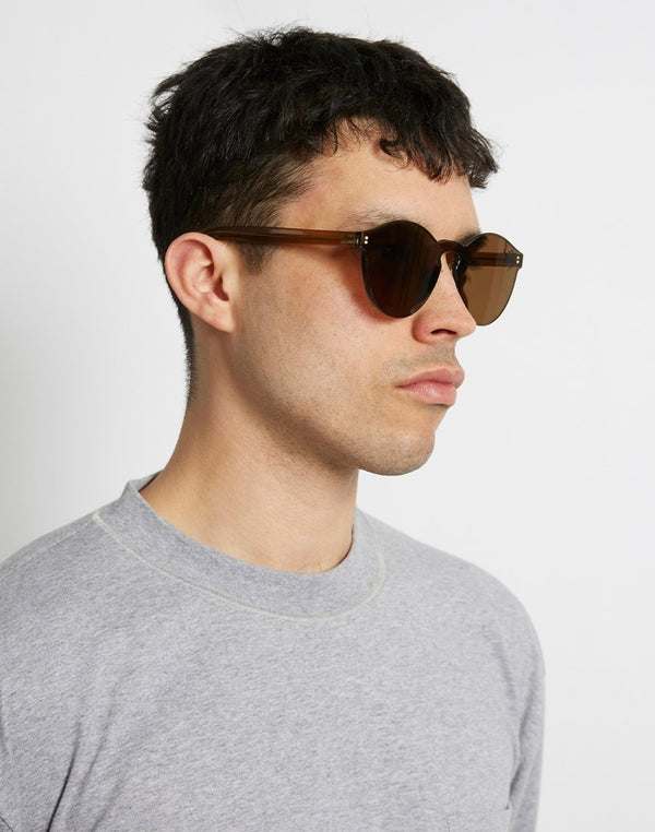 The Idle Man - Zero Frame Sunglasses Brown