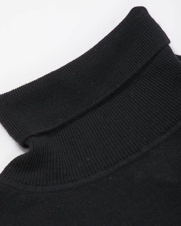 Sunspel - Fine Merino Wool Roll Neck Jumper Black