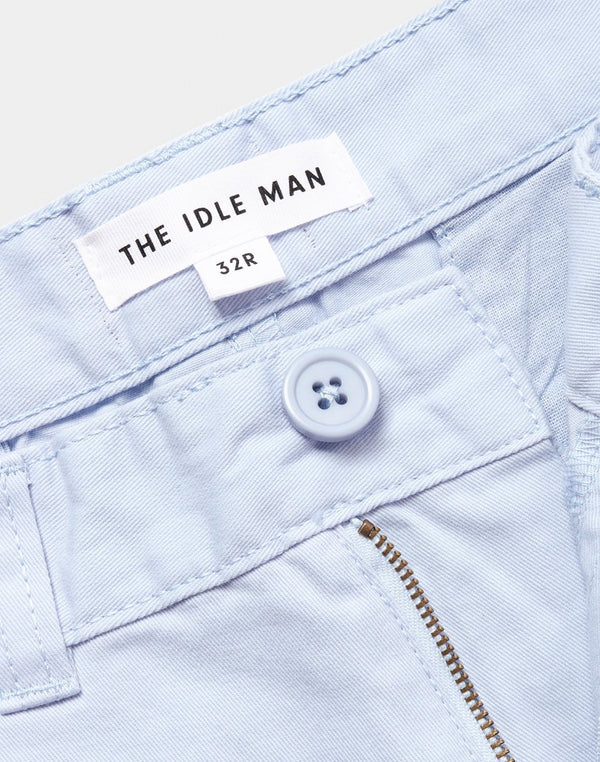 The Idle Man - Chino Shorts Light Blue