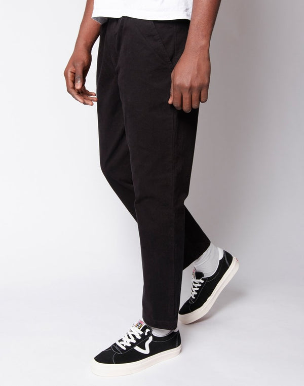 The Idle Man - Elasticated Waist Chino Black