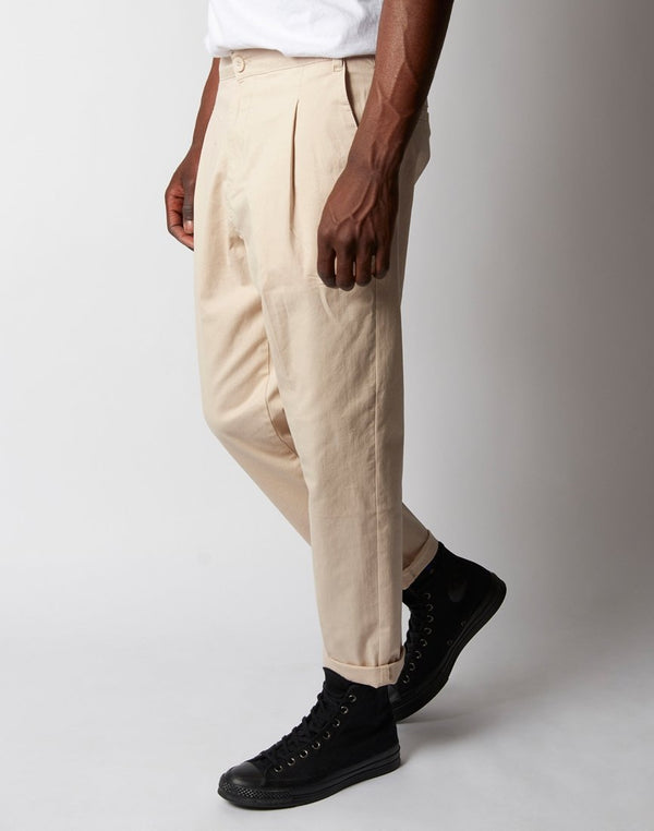 The Idle Man - Pleat Front Cropped Chino