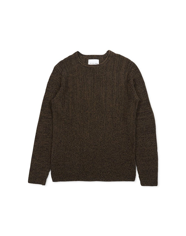 The Idle Man - 5 Colour Knitted Jumper Brown