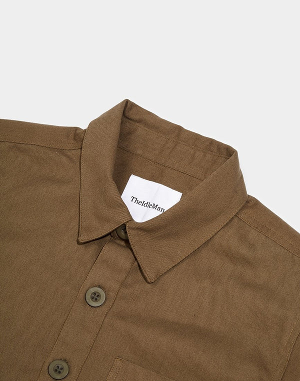 The Idle Man - Workwear Chore Jacket Khaki