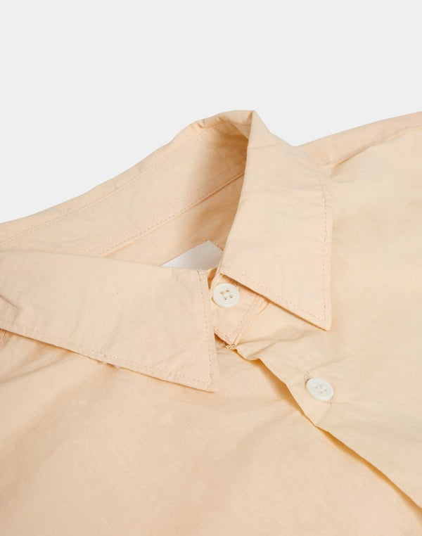 The Idle Man - Light Poplin SS Shirt Pink