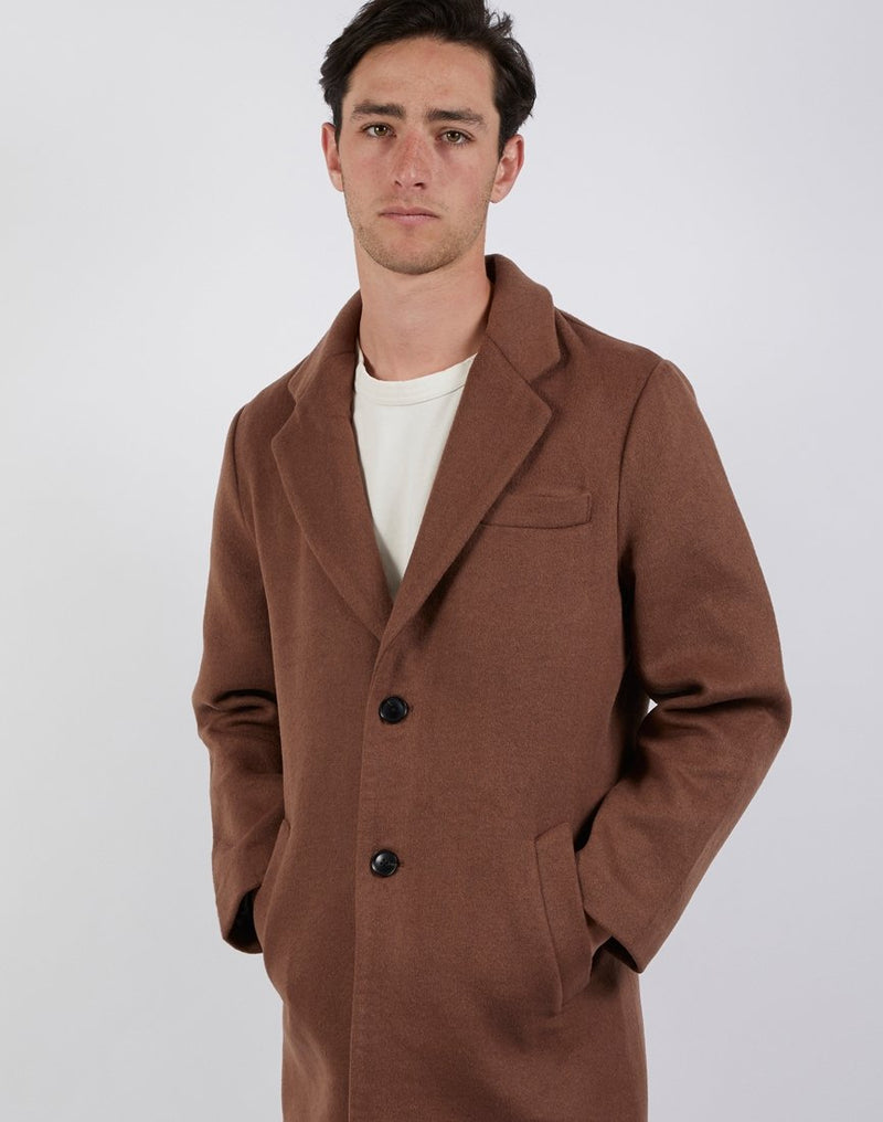 The Idle Man - Plain Overcoat Caramel