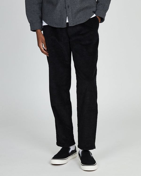 The Idle Man - Relaxed Cord Trouser Black
