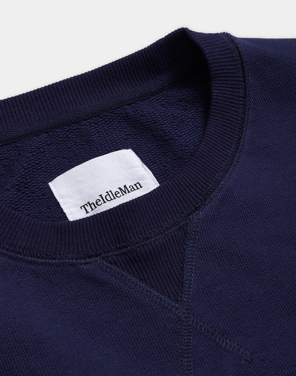 The Idle Man - Premium Heavyweight Loopback Sweatshirt Navy