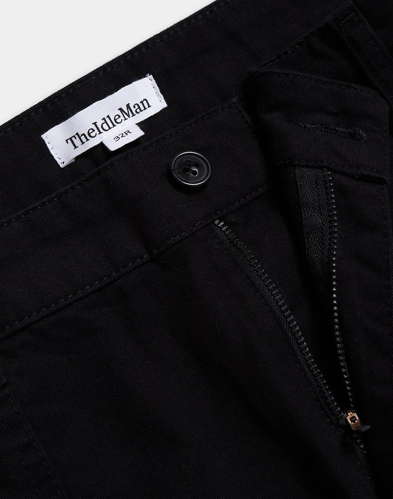 The Idle Man - Utility Chino Black