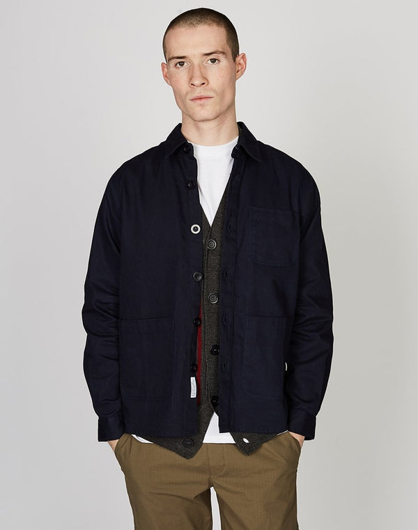 The Idle Man - Worker Chore Jacket Navy