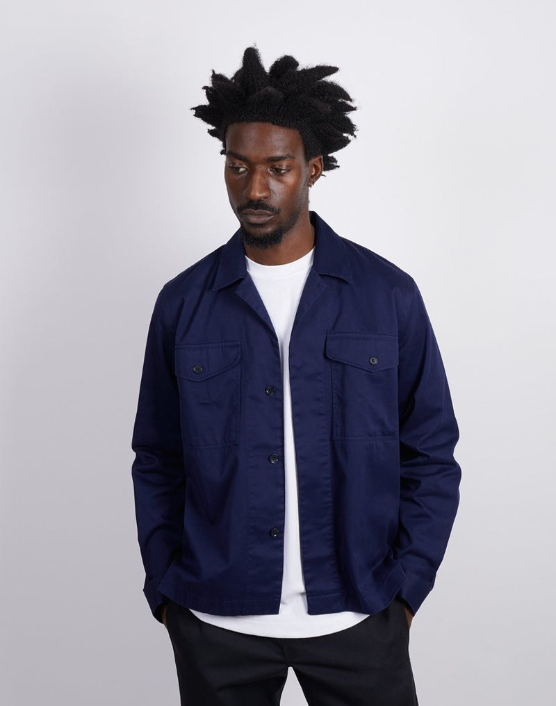 The Idle Man - Newman Shirt Jacket Navy