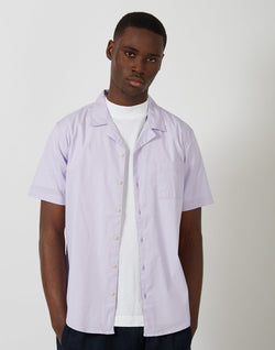 The Idle Man - Revere Collar Shirt Purple