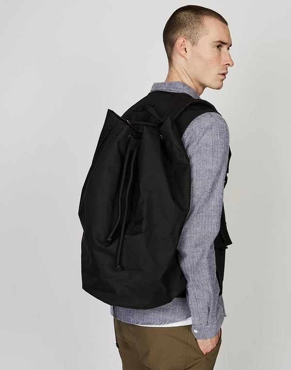 The Idle Man - Drawstring Backpack Black