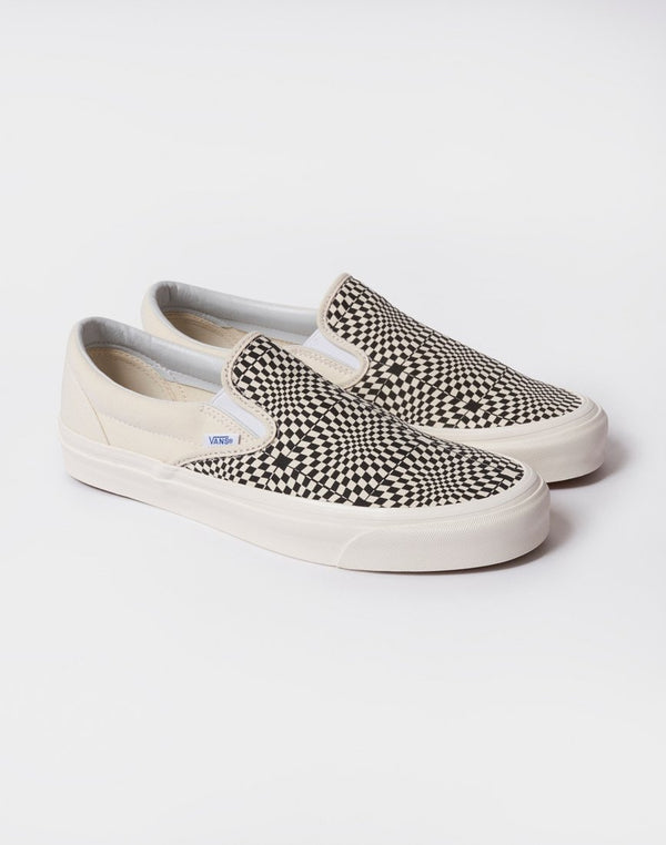Vans - Classic Slip-On 98 DX Anaheim White & Black Checkerboard