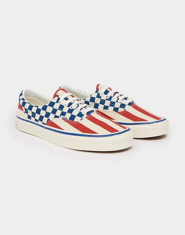 Vans - Anaheim Era Checkerboard Trainers Red & Blue