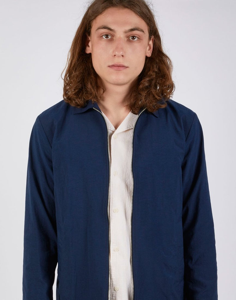 Wax London - Witham Coach Jacket Navy