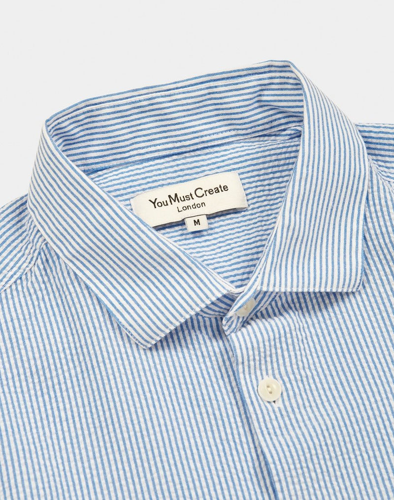 YMC - Curtis Shirt Blue