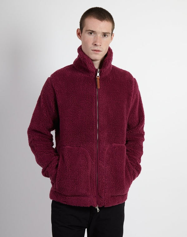 Albam - Fleece Zip Through Rasberry