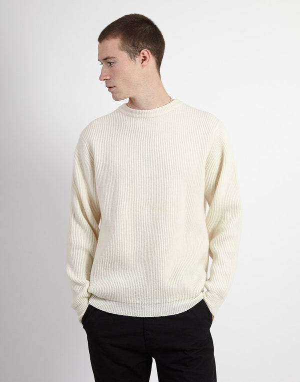 Albam - Ribbed Crew Neck Ecru