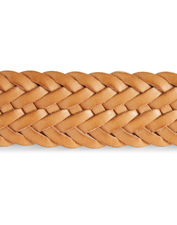 Anderson's - Leather Woven Belt Cream