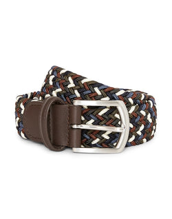Anderson's - Woven Belt Blue Green & Brown
