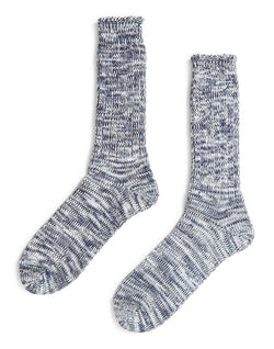 Anonymous Ism - Twisted Yarns 5 Colour Sock Navy & White