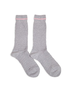 Anonymous - Ism Heavy Thurmal Crew Socks Grey with Pink Stripe - Grey