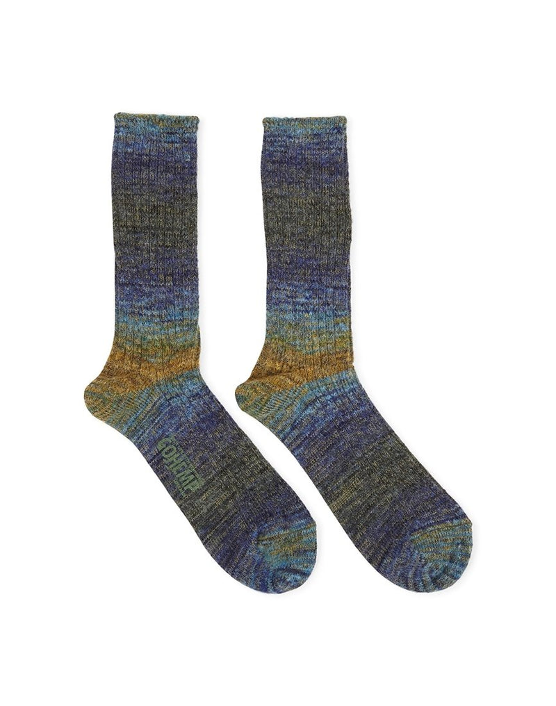 Anonymous - Ism GO Hemp Splash Blue & Yellow/Green Socks - Blue