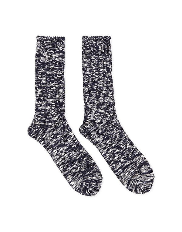 Anonymous Ism - Slub Crew Navy & White Socks