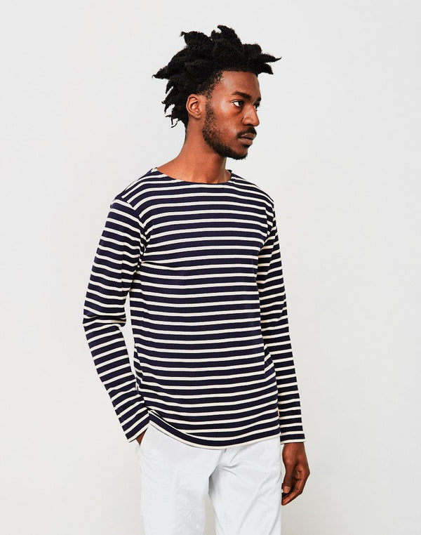Armor Lux - Classic Long Sleeve T-Shirt Navy & Off White
