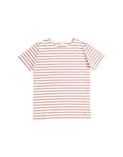 Armor Lux - Mariniere Short Sleeve Stripe T-shirt White & Red