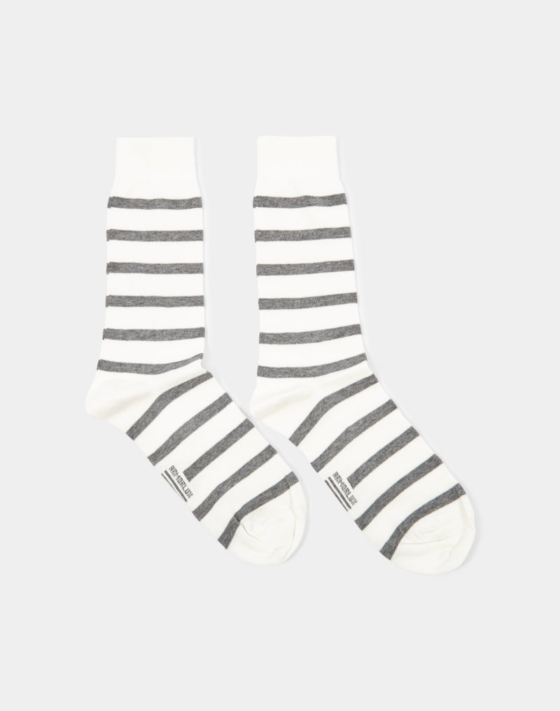 Armor Lux - Chaussettes Homme Socks White & Grey