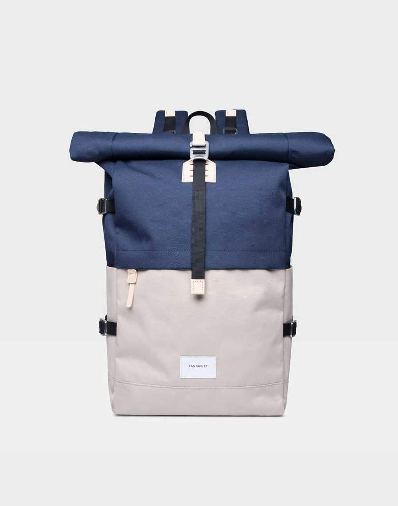 Sandqvist - Bernt Backpack Beige & Blue