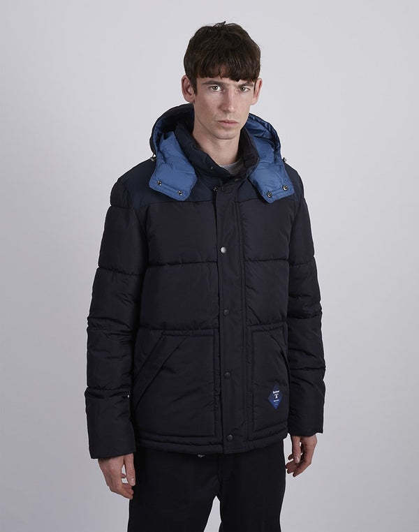 Barbour - Beacon Mill Down Quilted Jacket Navy