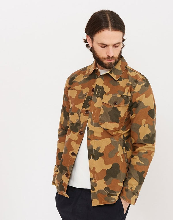 Barbour - Heritage Camo Button Thru Overshirt Green