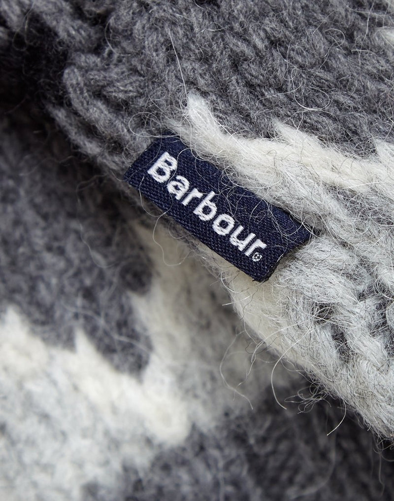 Barbour - Wetheral Fairisle Crew Grey